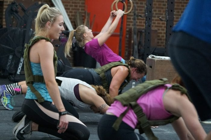 group weighted vest push ups