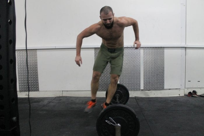 burpees over barbell